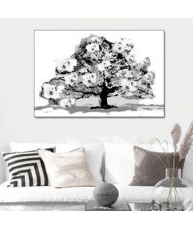 Obrazy do salonu czarno białe Drzewo czarno białe