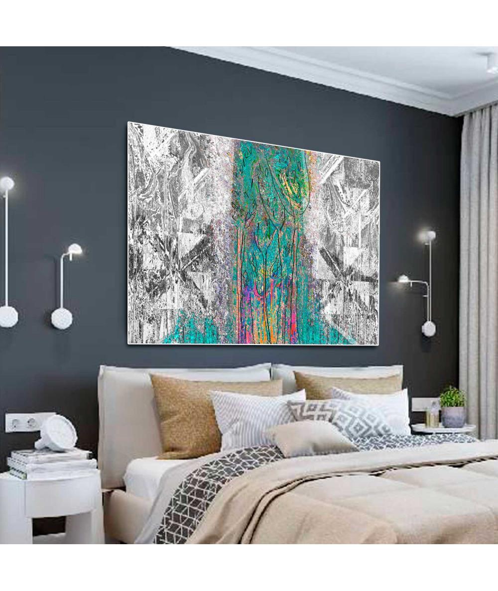 Obrazy las - Obrazy abstrakcje nowoczesne Abstrakcja las