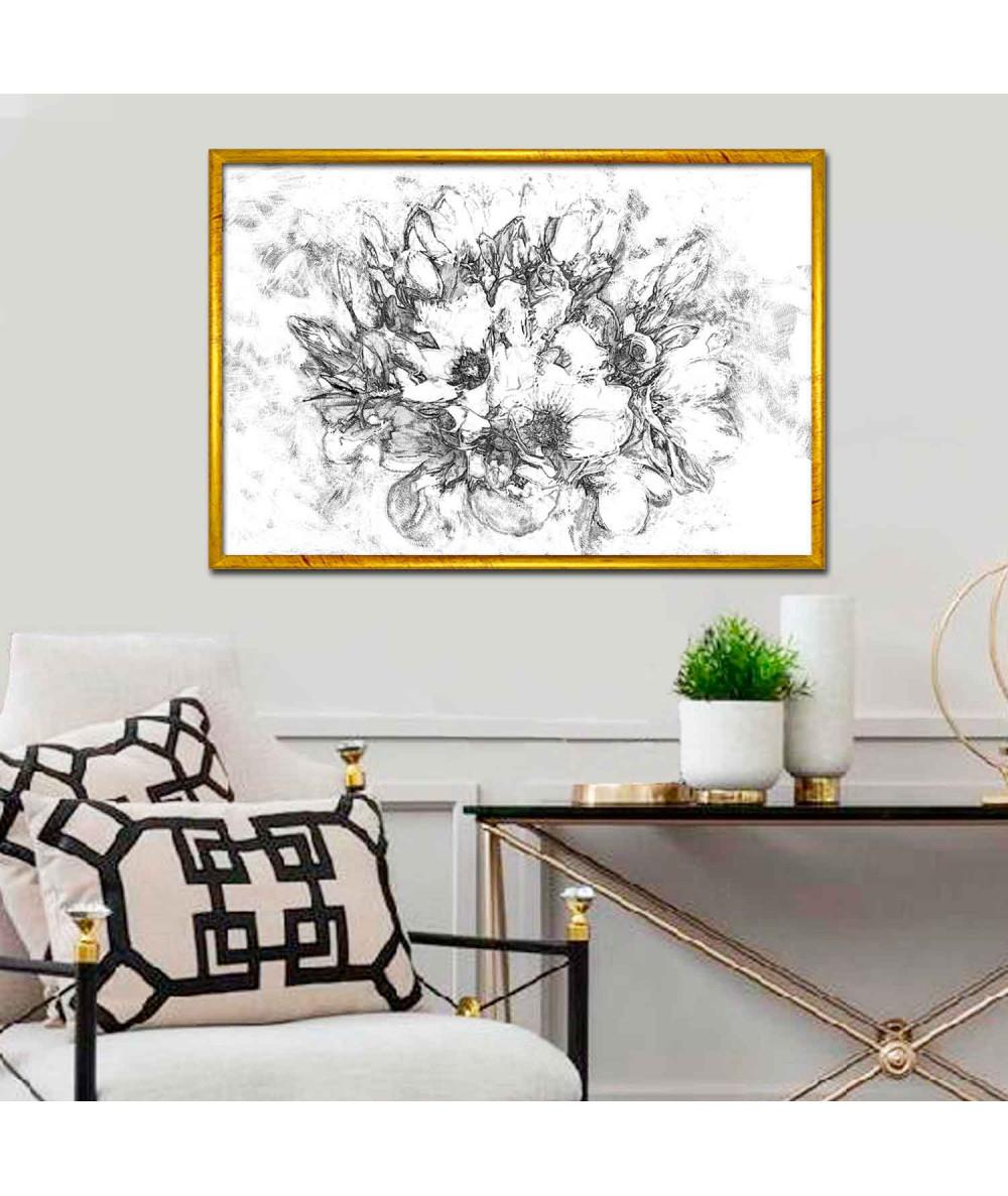 Obraz na płótnie Obraz drukowany Grafika magnolie (1-częściowy) szeroki