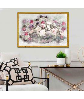 Obraz w stylu nowojorskim Róże (1-częściowy) szeroki