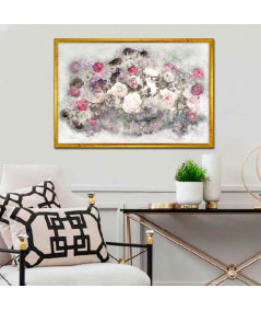 Obraz na płótnie Obraz w stylu nowojorskim Róże (1-częściowy) szeroki