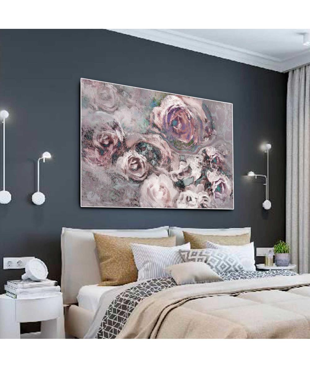 Obraz na ścianę autorski Różany ogród (1-częściowy) szeroki