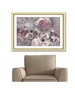 Obrazy kwiaty - Obraz na ścianę autorski Różany ogród (1-częściowy) szeroki