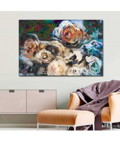 Obraz na płótnie Obraz drukowany 3d Kwiaty róży (1-częściowy) szeroki
