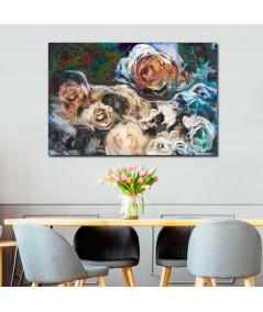 Obraz na płótnie Obraz drukowany 3d Kwiaty róży, obraz canvas