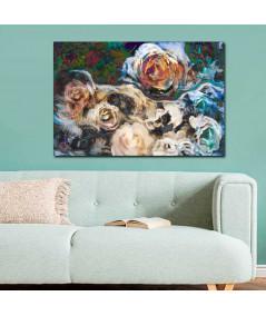 obrazy kwiaty Obraz drukowany 3d Kwiaty róży (1-częściowy) szeroki