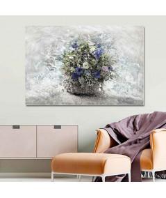 obrazy kwiaty Obraz Kwiaty polne w koszu (1-częściowy) szeroki