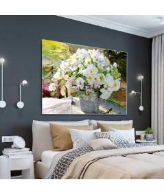 Obraz na płótnie Białe kwiaty obraz Bukiet białych kwiatów