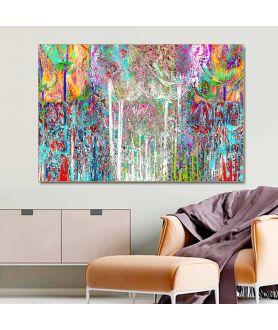Obraz na płótnie Obraz do salonu Kolorowe drzewa w lesie