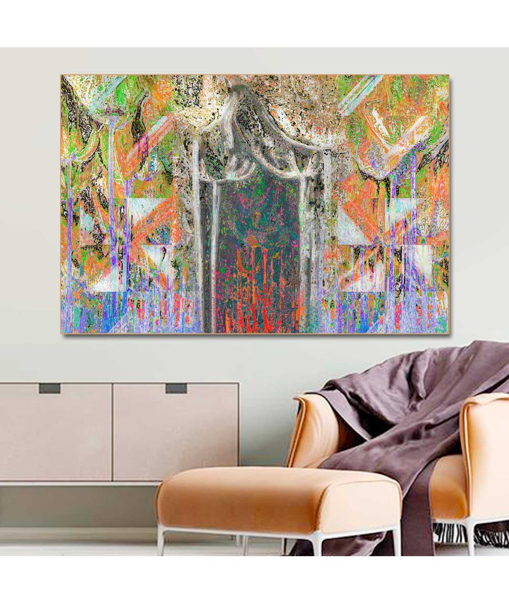 Obrazy abstrakcyjne - Obraz na ścianę Abstrakcyjne drzewa (1-częściowy) szeroki