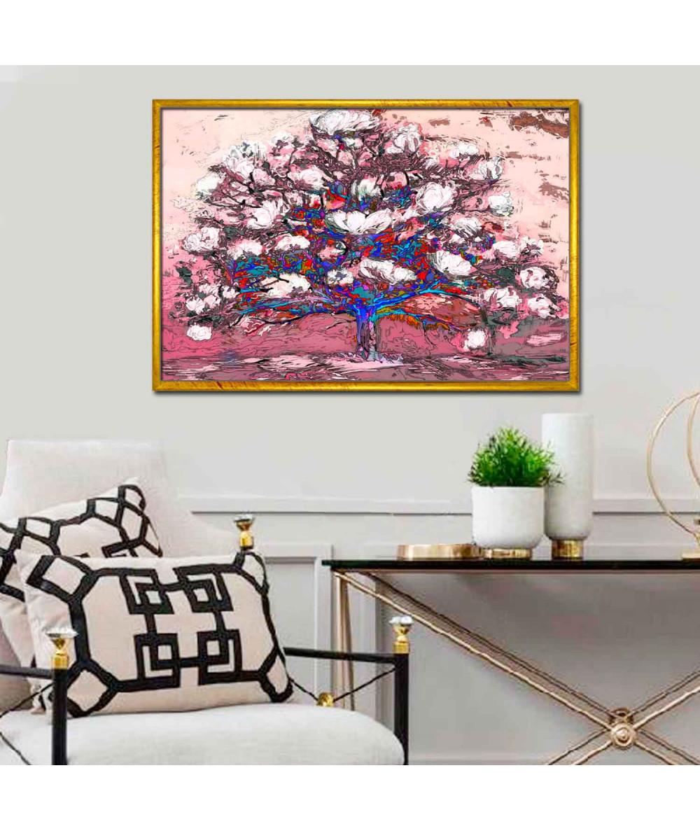 Nowoczesne obrazy na ścianę Kwitnące drzewo