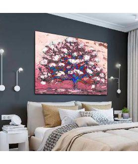 Obraz na płótnie Nowoczesne obrazy na ścianę Kwitnące drzewo
