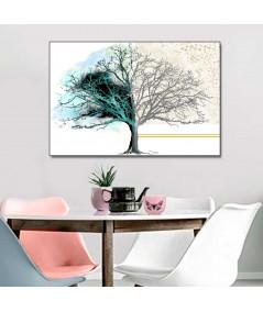 Obraz na płótnie Obrazy nowoczesne do salonu Drzewo dnia i nocy