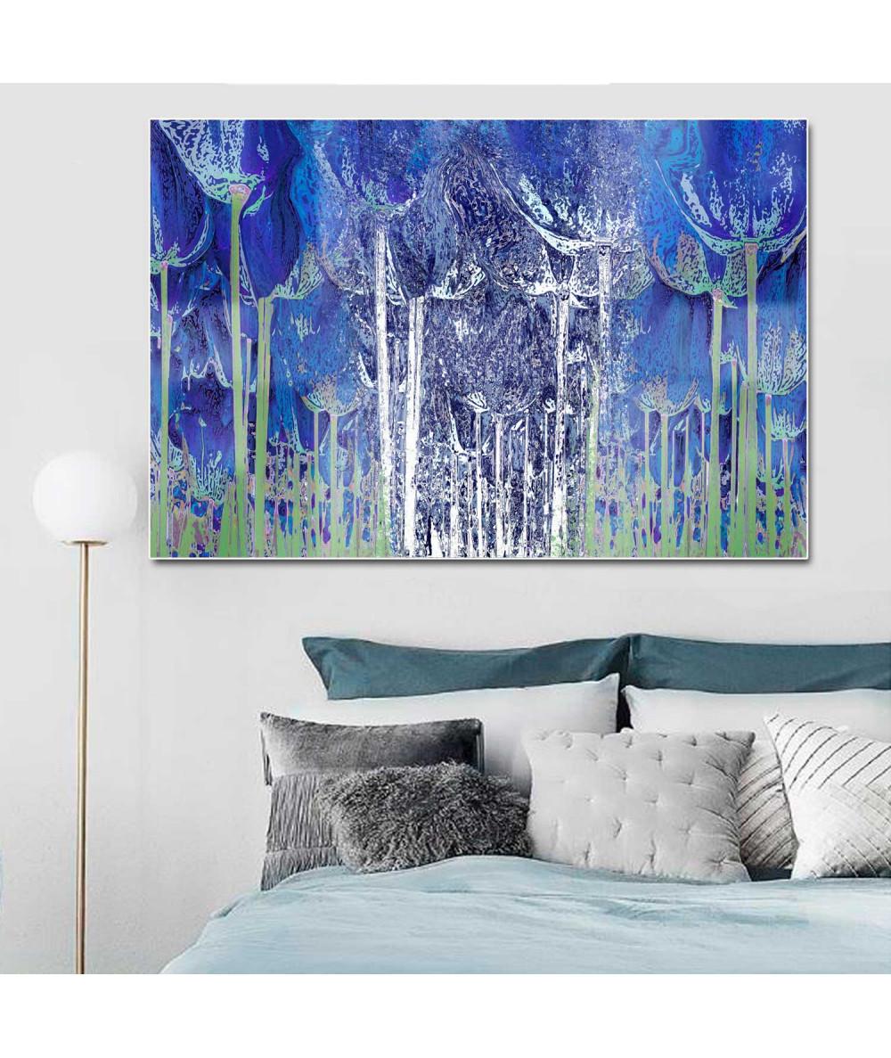 Obrazy las - Oryginalne obrazy na ścianę Granatowy las