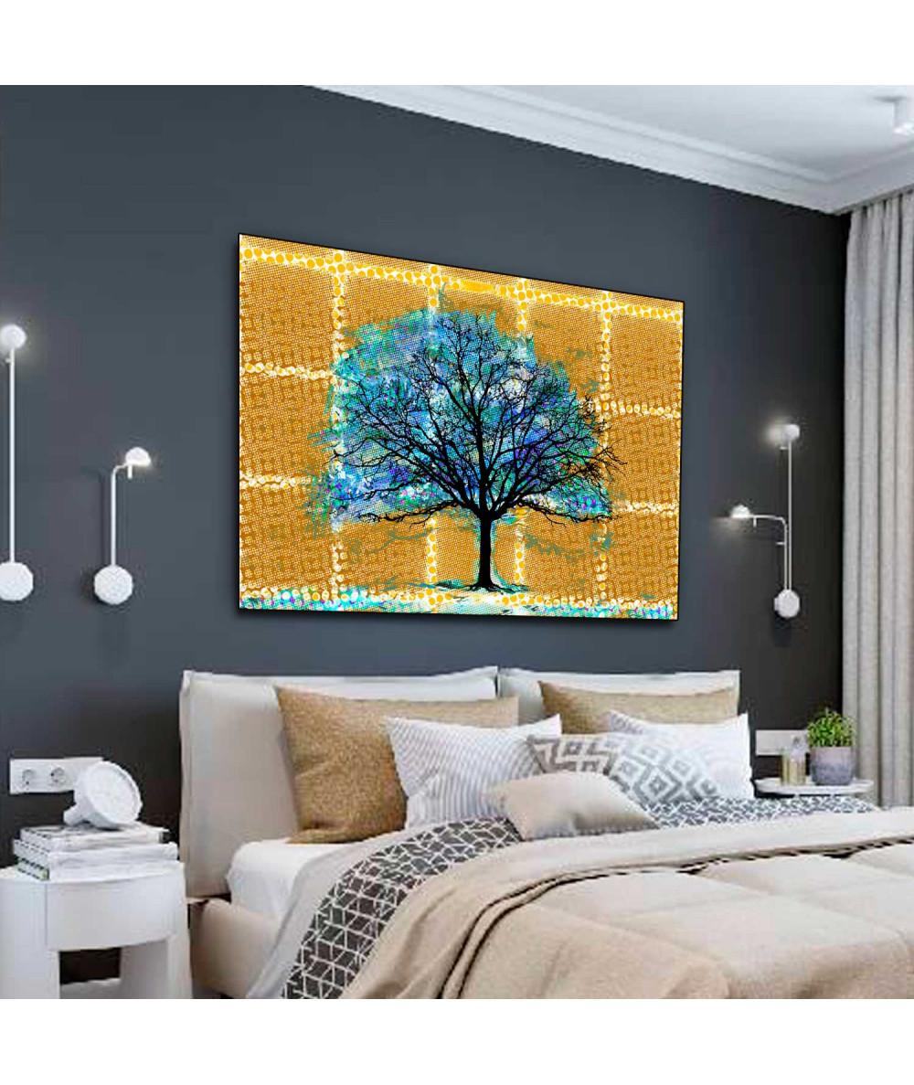 Wielki obraz na ścianę Drzewo w stylu boho