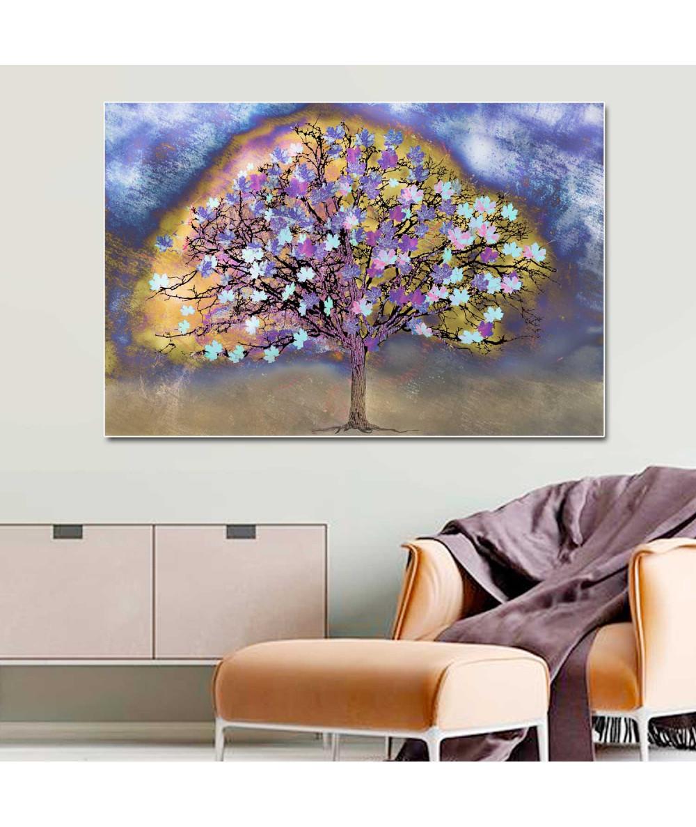 Obrazy drzewo - Obraz kolorowy Drzewo po deszczu (1-częściowy) szeroki