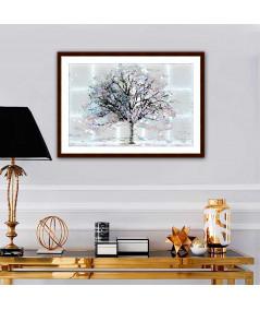 Obraz na płótnie Obraz grafika na ścianę Drzewo za oknem (1-częściowy) szeroki