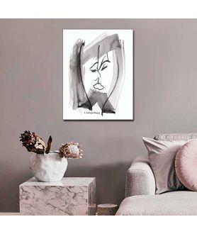 Obrazy pocałunek - Obraz sztuka nowoczesna Pocałunek (pionowy)