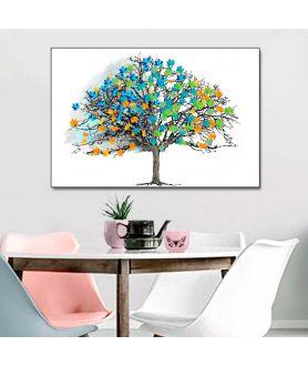 Obraz na płótnie Plakaty w stylu skandynawskim Drzewo i kolorowe liście