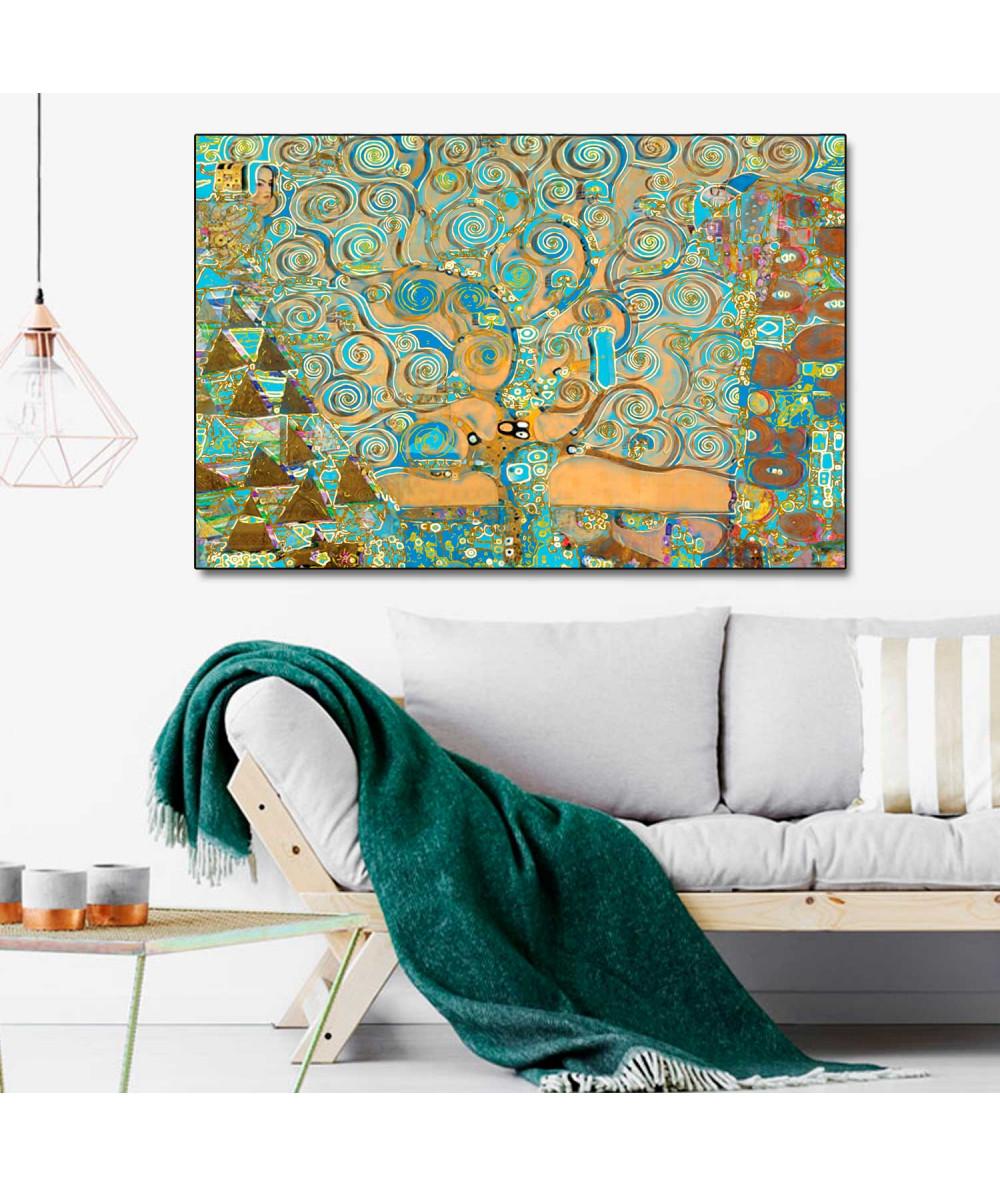 Obrazy drzewo - Obraz dekoracyjny Drzewo Życia i sztuki