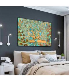 Obraz na płótnie Obraz Drzewo Życia i sztuki, dekoracyjny obraz na ścianę