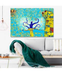 Obraz na płótnie Obrazy art deco Drzewo Życia w turkusie