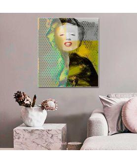 Obraz na płótnie Obraz industrialny Marilyn Monroe smile, grafika artystyczna