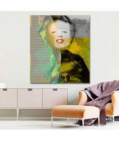 Obrazy Marilyn Monroe - Obraz industrialny Marilyn Monroe smile (1-częściowy) pionowy