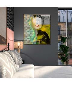 Obraz industrialny Marilyn Monroe smile (1-częściowy) pionowy