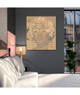 Obraz na płótnie Grafika art deco Monroe i Channel old gold