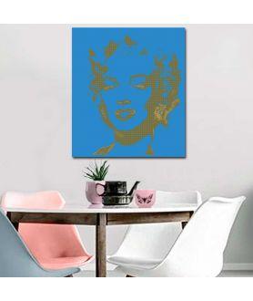 Nowoczesne obrazy twarze Pop art Monroe blue