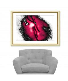 Obraz na płótnie Obrazy miłość czarno czerwony Gorący pocałunek