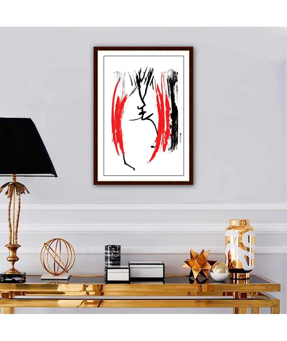 Obrazy czarno białe z czerwonym Młodość