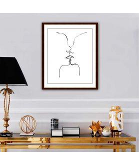 Obraz na płótnie Obraz Grafika pocałunek 4 (1-częściowy) pionowy
