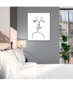 Grafiki na ścianę Grafika pocałunek 7, styl klasyczny