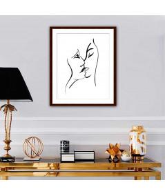 Obrazy pocałunek - Grafiki czarno białe Grafika pocałunek 8
