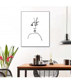 Obraz na płótnie Grafika na płótnie Grafika pocałunek 3 (pionowa)