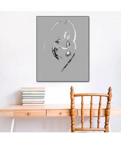 Obraz nowoczesny szary Grafika pocałunek 11