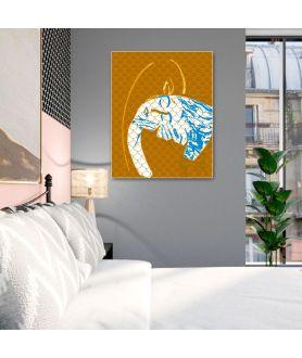 Obraz Grafika abstrakcja złota (1 częściowy) pionowy