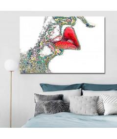 Nowoczesne grafiki do salonu Grafika miłosna usta