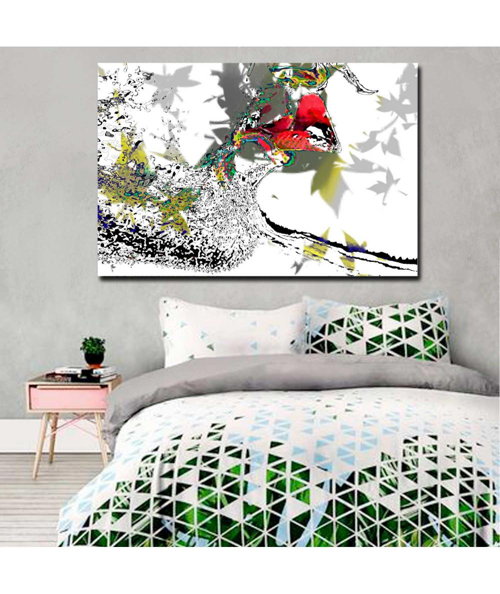 Grafika do sypialni Miłość przychodzi jesienią