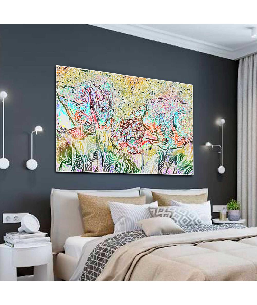 Obrazy las - Grafika obraz do sypialni Jesienne drzewa (1-częściowy) szeroki