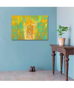 Obraz na płótnie Obraz na płótnie do salonu Drzewa zachód słońca