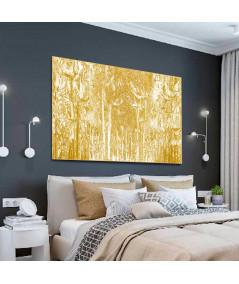 Obrazy las - Obraz grafika do kupienia W złotym lesie (1-częściowy) szeroki