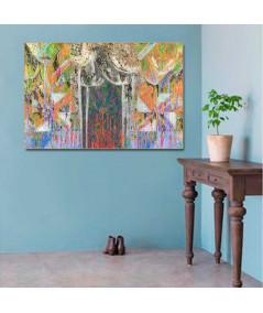 Obraz na ścianę Abstrakcyjne drzewa (1-częściowy) szeroki