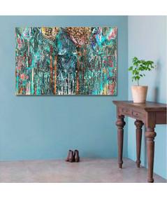 Obraz drzewa turkusowe Drzewa w moim lesie
