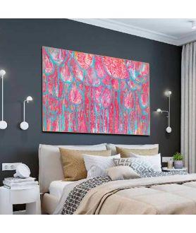 Obraz na płótnie Obrazy kwiaty do salonu W lesie różowych tulipanów