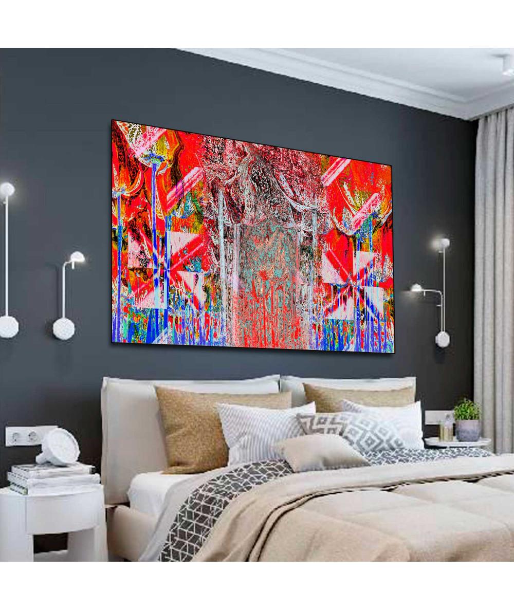 Obrazy dekoracyjne na ścianę Geometryczna abstrakcja las