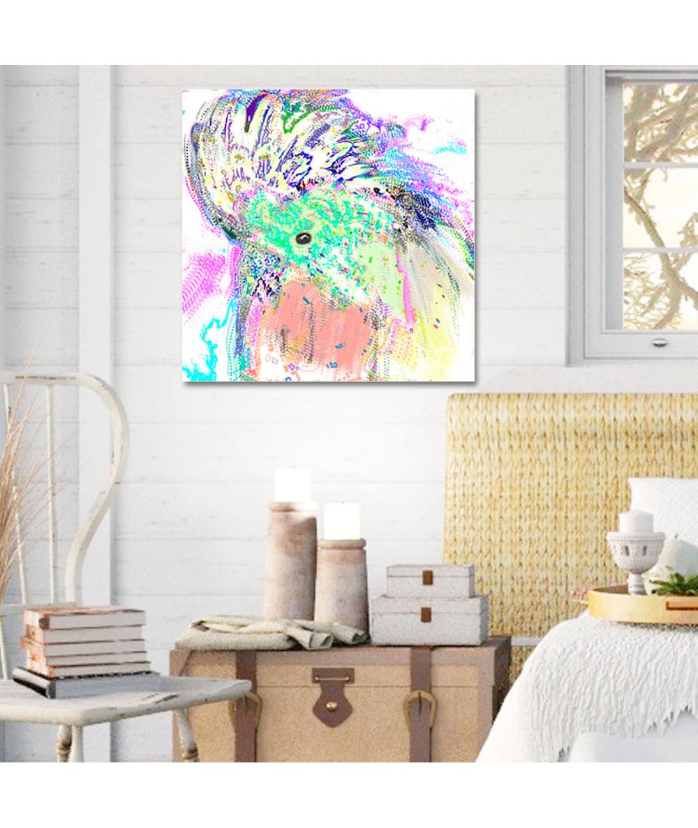 Papuga grafika do salonu Papuga art