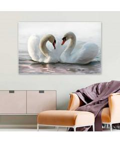 Obraz na płótnie Obraz miłosny Miłość łabędzia (1-częściowy) szeroki